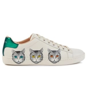 倪妮同款猫咪鞋来啦 手慢无码上新:Gucci 美鞋上新 铆钉小白鞋、小蜜蜂系列、乐福鞋都有
