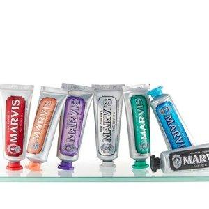 变相6.7折 每支牙膏仅£1.58Marvis 全线牙膏热促 收牙膏中的爱马仕