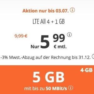 月租仅€5.99 代号入网送€6.82