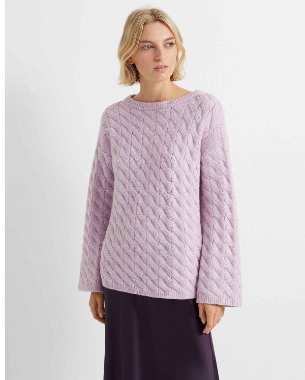 麻花针织毛衣
