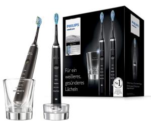降至¥1346 黑白二色可选Philips 新一代钻石电动牙刷 带充电玻璃杯 2支组合装