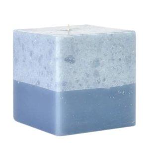 蓝色大理石纹蜡烛