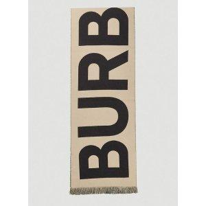 Burberry爆款Logo围巾