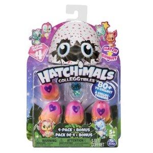 $2.88手慢无:Hatchimals CollEGGtibles 迷你蛋4只+ 第四季萌宠1只