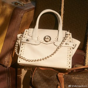 4折起+包邮 $99收链条斜挎包上新:Michael Kors 白色包包专场 $214收封面同款包