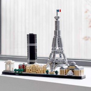 折后€37 体会法式浪漫LEGO 建筑系列 巴黎天际线 21044 埃菲尔铁塔搬回家