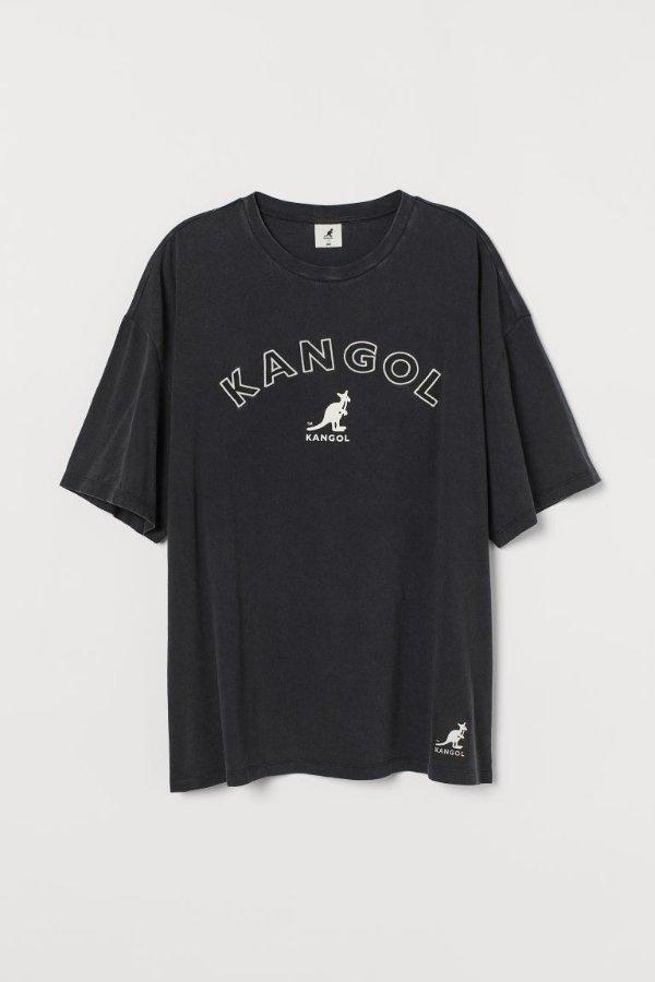 Oversize 袋鼠T恤
