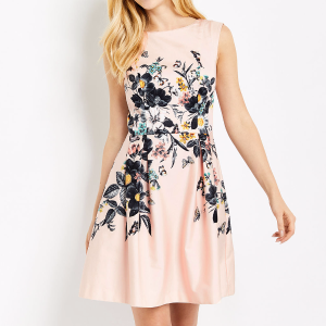 Oasis玫瑰色印花连衣裙