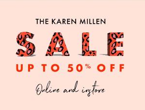 低至5折 多款首次加入折扣区Karen Millen 多款美裙美衣、鞋包换季大促 年会美衣备起来!