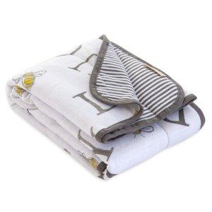 有机棉正反两用小毯子
