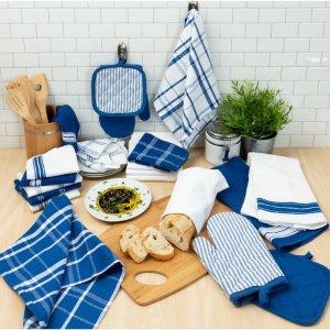 $17.99Mainstays 清新蓝格子厨房毛巾手套等20件套