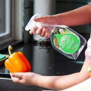8.5折 奶瓶清洁剂503ml仅$5.34Ecos 绿色环保清洁产品热卖 蔬果清洁喷雾650ml仅$6.19