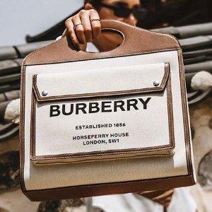 一律8折 €464收格纹腰包Burberry 剁手季大促 爆款TB包、口袋包、logo腰带全有货