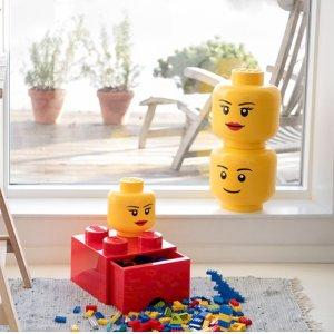€12收撞色款Lego 乐高储物盒 款式颜色齐全 收趣味收纳系统、方块小夜灯