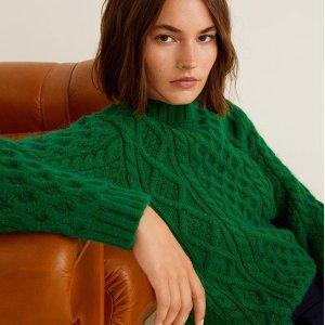 低至4折+额外75折 $68收长款风衣Mango 美衣清仓新品加入 收温暖毛衣、格纹西装、外套