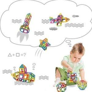 闪购$15.19(原价$48.99)CHanvi 儿童彩色磁性建筑玩具80片