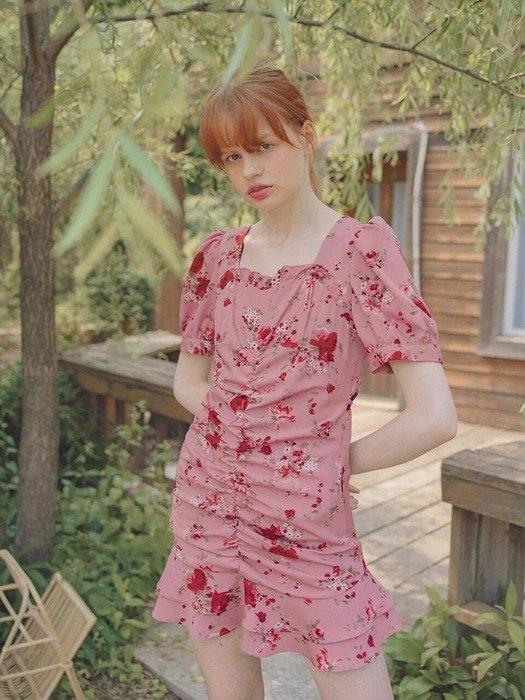 Rose Shirring 连衣裙