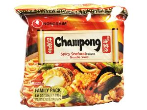 农心champong炒码王辣海鲜拉面
