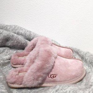 6折 €58收嫩粉色毛绒拖儿最后一天:UGG 特选萌系Scuffette闪促 一起毛茸茸的度过寒冬