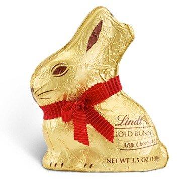 复活节金兔子牛奶巧克力 共16个