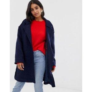Vila蓝色羊毛大衣