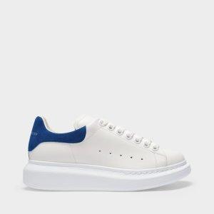 Alexander McQueen小白鞋 蓝尾