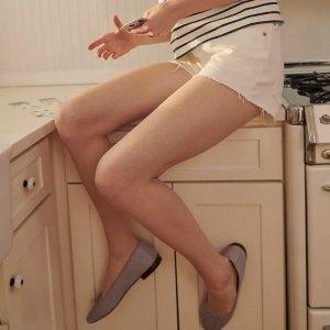 低至3折+额外8折+免邮折扣升级:Madewell  鞋履专场 封面芭蕾鞋$31 好价入拼色运动鞋
