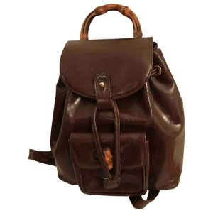 GucciBamboo leather backpack 108 Gucci