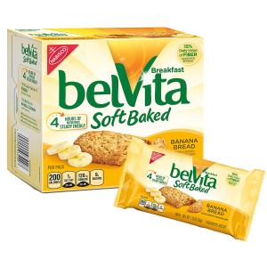 现价$15.7 健康又美味belVita 香蕉味早餐饼干 8.8oz 6盒装