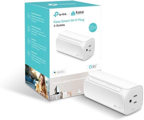 Kasa HS107 双接口智能插座 支持Alexa & Google助手