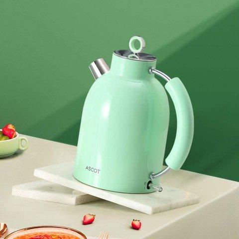 €59.98起 2色可选Ascot 复古电热水壶热促 颜值超能打 SMEG平替