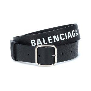 BalenciagaLogo leather belt