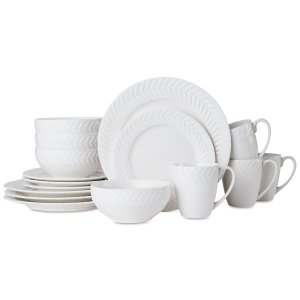 $24.99 Pfaltzgraff Leaf 16-Pc. Dinnerware Set, Service for 4