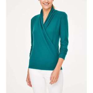 LOFT Outlet$20 OFF YOUR PURCHASE OF $100+! USE CODE: OPENERCozy Wrap Top