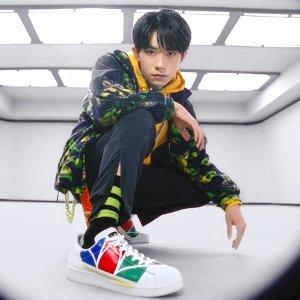 低至5折+额外8折+免邮adidas官网 Superstar贝壳头板鞋促销 易烊千玺同款$43