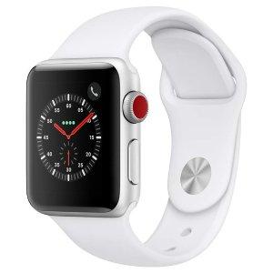 38mm $229 42mm $259Apple Watch Series 3 智能手表 GPS + 蜂窝 随时保持在线