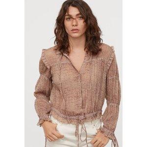 H&M褶皱衬衫