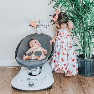 全场8折 低至$11.964Moms 收婴儿电动摇椅 多功能游戏床 网红哄娃神器
