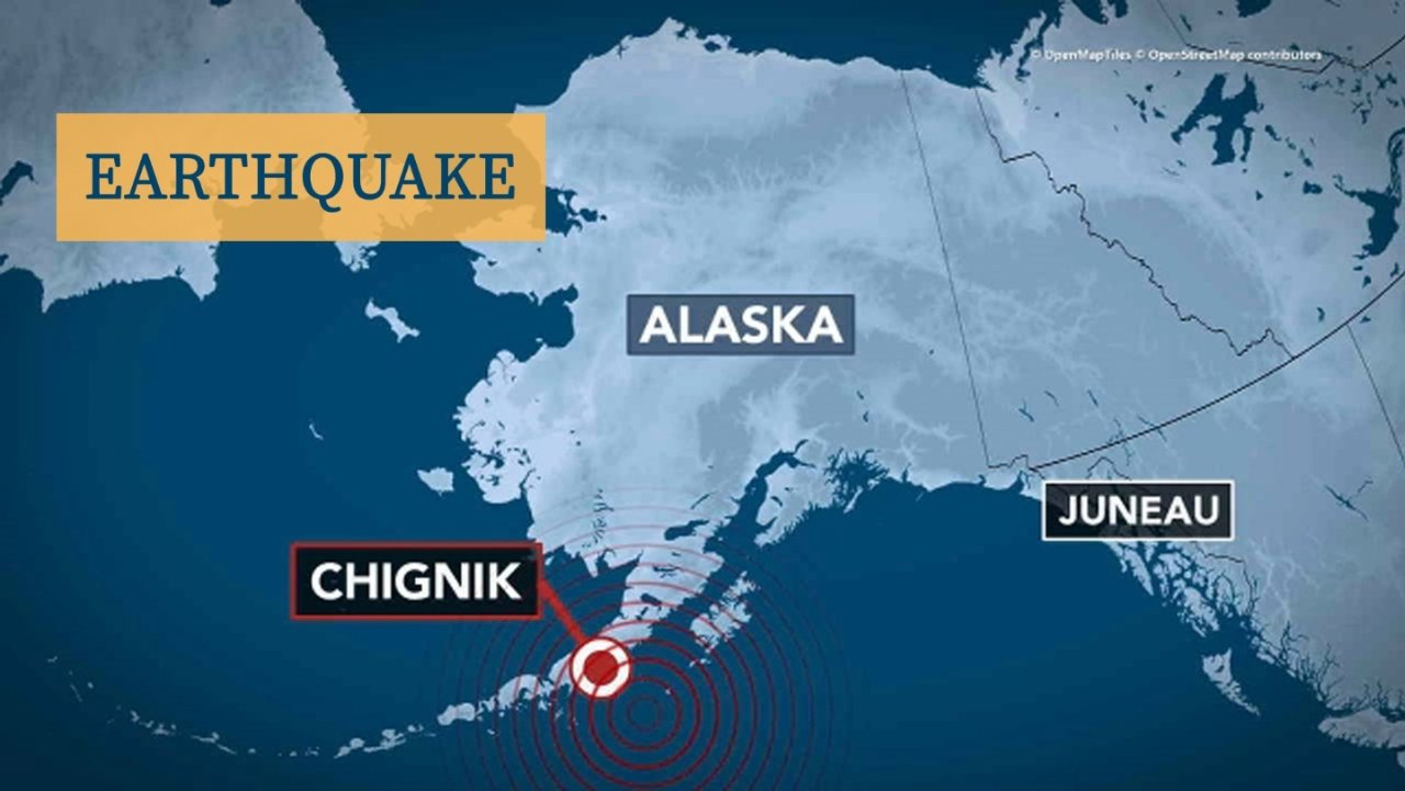 阿拉斯加州附近海域发生8.2级地震,为美国57年来最强地震!NTWC发布海啸预警!