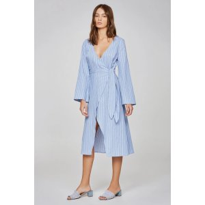 The Fifth Label50% off with $150 PurchaseBARBADOS STRIPE LONG SLEEVE WRAP DRESS