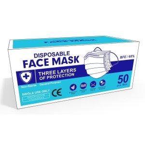 YadeaYade Disposable Face Mask 3-Ply with Earloop | Sealed 50pcs/Box | General Purpose | US Shipping - Newegg.com