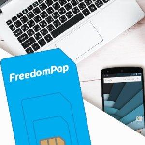 $0.01FreedomPop 无限量手机通信服务 + 三合一SIM卡套装