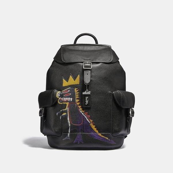 X Jean-Michel Basquiat 皇冠小恐龙双肩包