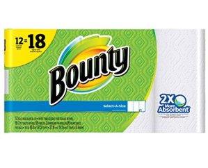 厨房好帮手 $14.22 (原价$22.99)Bounty Select-a-Size 厨房用纸 超大12卷