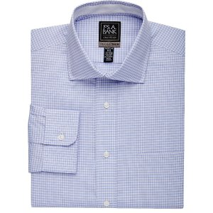 4 for $125Travel Tech Collection Tailored Fit Spread Collar Plaid Dress Shirt