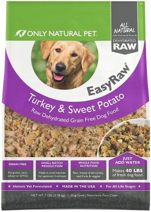 Only Natural Pet EasyRaw Turkey & Sweet Potato Raw Grain-Free Dehydrated Dog Food