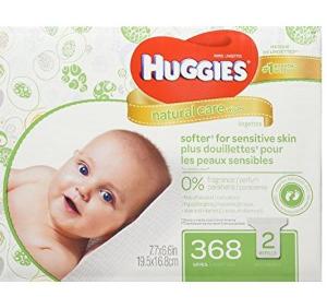 妈妈必囤!史低价$6.49(原价$14.99)Huggies Natural Care 温和配方无香型婴儿湿巾 368张