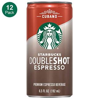 $14.45 一罐仅$1.2闪购:星巴克 Doubleshot Espresso 古巴浓缩咖啡 12罐