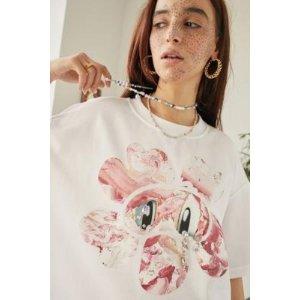 angel chen花朵印花T恤