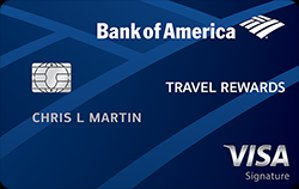 25,000 Online Bonus Points OfferBank of America® Travel Rewards credit card